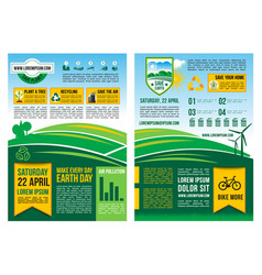 earth day information poster or infographic vector image vector image