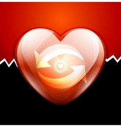 Glossy valentine heart engine concept vector image