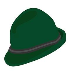 Green german hat vector