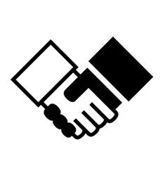 Handshake Simple Icon on White Background vector image
