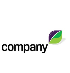 logo with green energy sport vector image