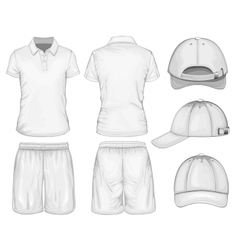 Men sport clothes vector image vector image