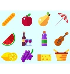 Summer picnic icon vector