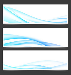 swoosh blue power energy futuristic header vector image