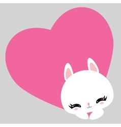 bunny 03 vector image vector image