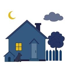 House at night vector image