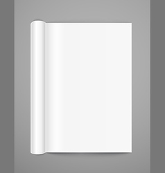 Open book page template vector image vector image