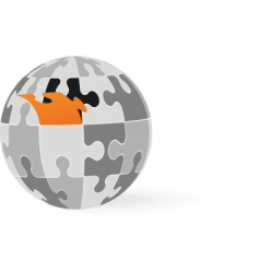 puzzle globe vector image vector image