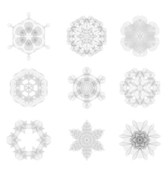 Set of Rosettes Isolated vector image