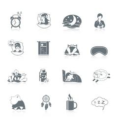 Sleep time icon set vector