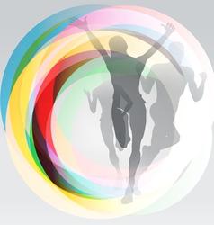 Sport festive concept background vector image vector image