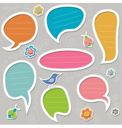 stickers for text vector image vector image