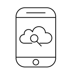 cloud storage search using smartphone mobile vector image