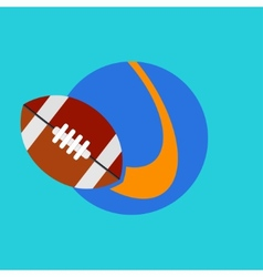 flat modern rugby icon background vector image