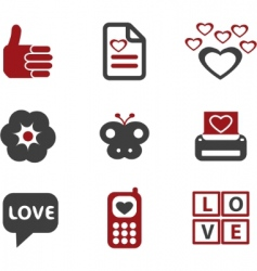 love signs vector image
