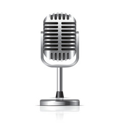 object retro microphone vector image vector image