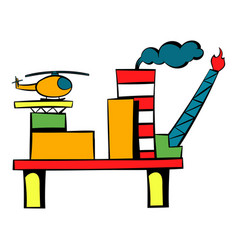oil refinery icon icon cartoon vector image