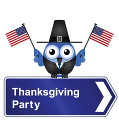 THANKSGIVING DAY PARTY SIGN vector image vector image