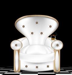 white armchair vector image