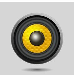 Audio Speaker on Light Background vector image vector image