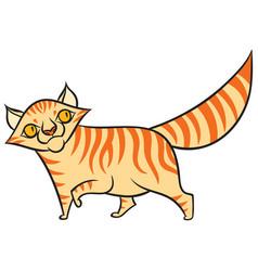 cartoon tabby cat vector image