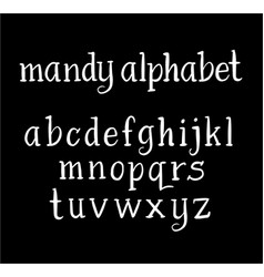 Mandy alphabet typography vector