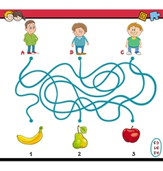 maze puzzle task for kids vector image vector image