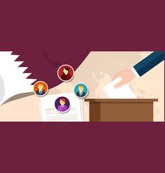 qatar democracy political process selecting vector image vector image