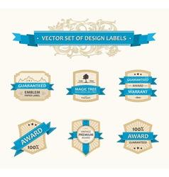 set vintage ornate decor vector image vector image