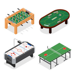 table game set isometric view vector image vector image
