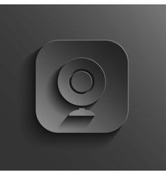 Webcamera icon - black app button vector image vector image