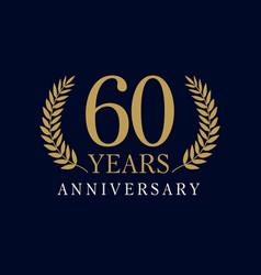 60 anniversary royal logo vector