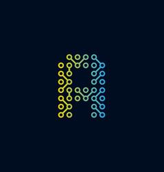 A circuit technology letter logo icon design vector