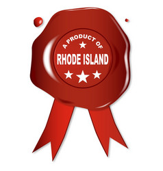 a product of rhode island vector image