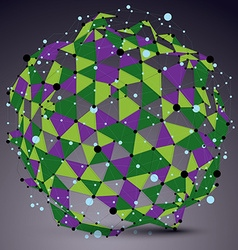 Abstract asymmetric colorful spherical structure vector