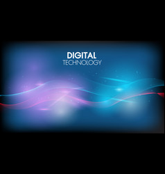 abstract technology background geometric waves vector image