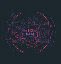 Big data concept vector