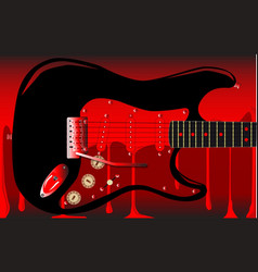 Blood guitar vector