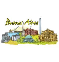Buenos aires doodles vector