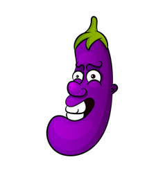 cartoon character of an eggplant vector image