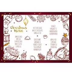 Christmas Menu Brochure Design vector