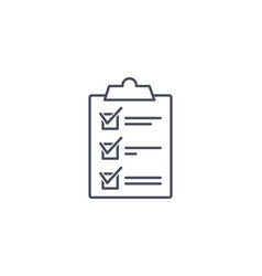 clipboard with check marks or ticks on a list vector image