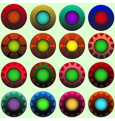 Coloured decorated buttons vector image