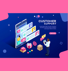 Commercial support editable banner vector