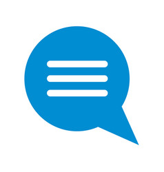 Conversation bubble with lines icon image vector