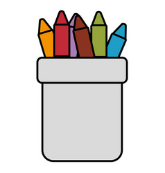 Crayons colors in holders vector