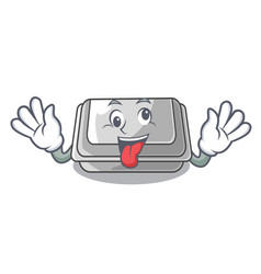 crazy plastic box in character closet vector image