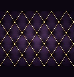dark purple leather capitone background texture vector image