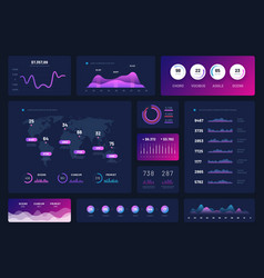 data dashboard modern infographic ui interface vector image