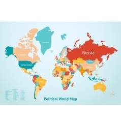 Earth Map Countries vector